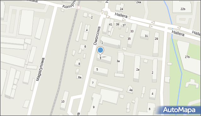 Mogilno, Dworcowa, 3, mapa Mogilno