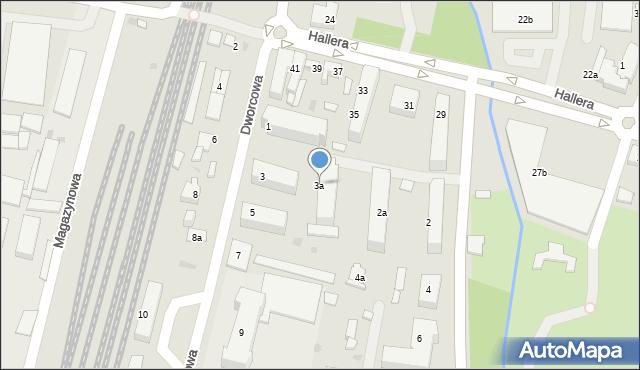 Mogilno, Dworcowa, 3a, mapa Mogilno