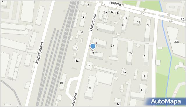 Mogilno, Dworcowa, 5, mapa Mogilno