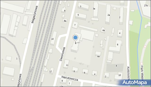 Mogilno, Dworcowa, 9, mapa Mogilno