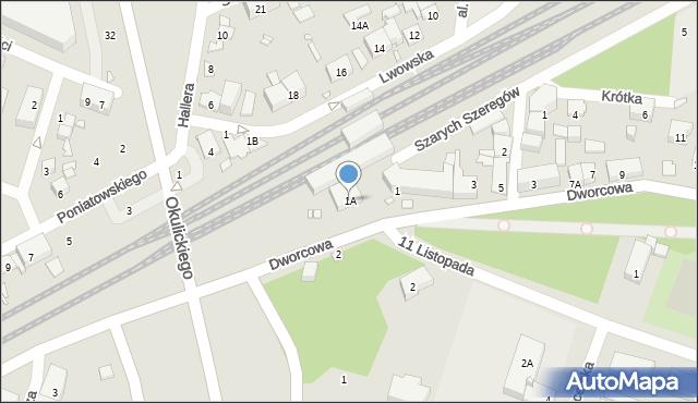Piastów, Dworcowa, 1A, mapa Piastów