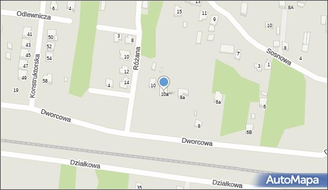 Poręba, Dworcowa, 10a, mapa Poręba
