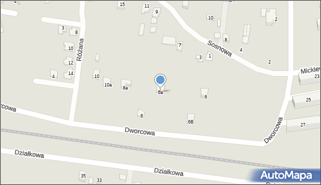 Poręba, Dworcowa, 6a, mapa Poręba