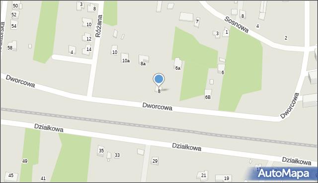 Poręba, Dworcowa, 8, mapa Poręba