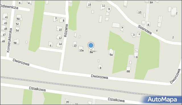 Poręba, Dworcowa, 8a, mapa Poręba
