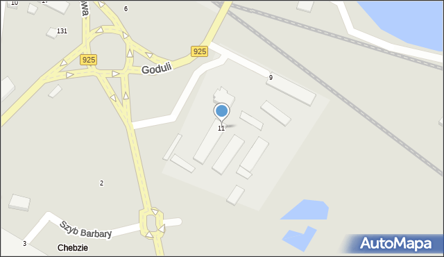 Ruda Śląska, Dworcowa, 11, mapa Rudy Śląskiej