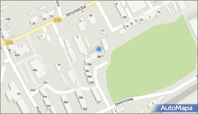 Sieraków, Dworcowa, 36f, mapa Sieraków