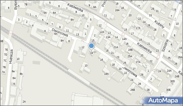 Świętochłowice, Dworcowa, 14, mapa Świętochłowice