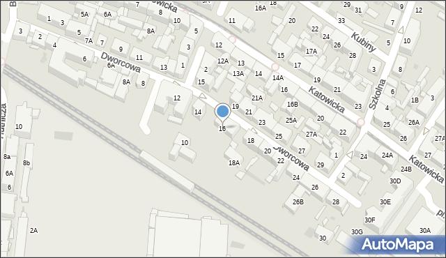 Świętochłowice, Dworcowa, 16, mapa Świętochłowice