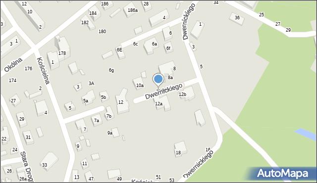 Toruń, Dwernickiego Józefa, gen., 10, mapa Torunia