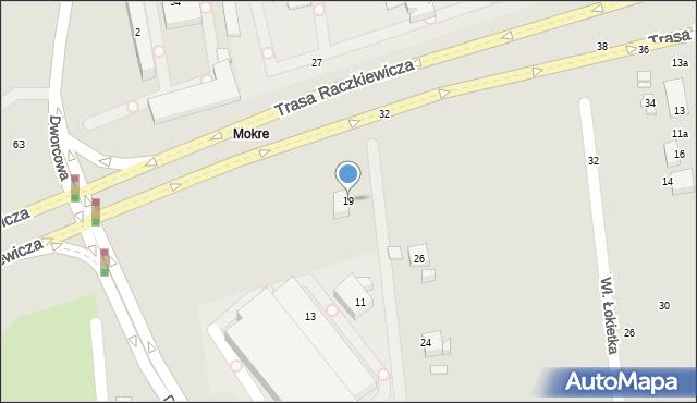 Toruń, Dworcowa, 19, mapa Torunia