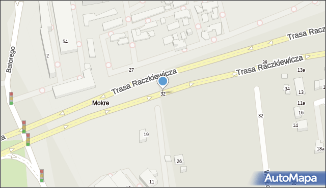 Toruń, Dworcowa, 32, mapa Torunia