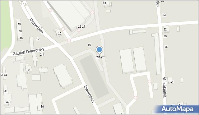 Toruń, Dworcowa, 7/7a, mapa Torunia