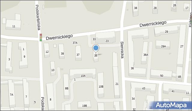 Warszawa, Dwernickiego Józefa, gen., 35, mapa Warszawy