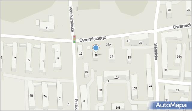 Warszawa, Dwernickiego Józefa, gen., 39, mapa Warszawy