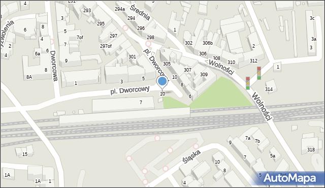 Zabrze, Dworcowa, 10, mapa Zabrza