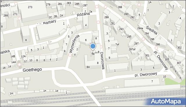 Zabrze, Dworcowa, 6a, mapa Zabrza