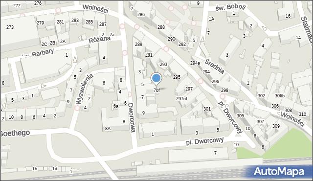 Zabrze, Dworcowa, 7of, mapa Zabrza