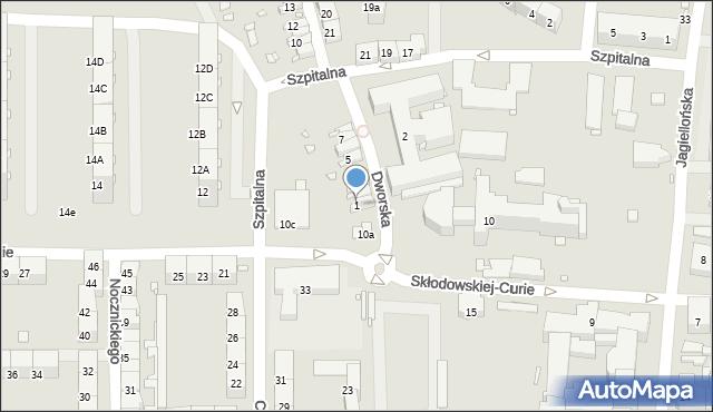 Zabrze, Dworska, 1, mapa Zabrza