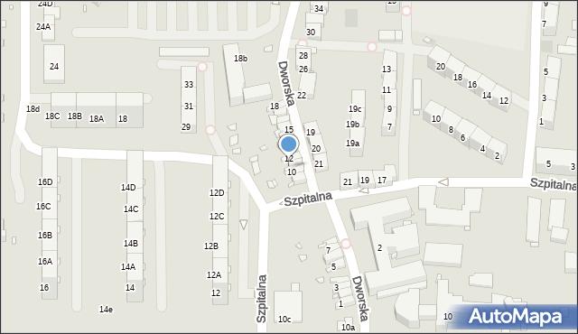 Zabrze, Dworska, 11, mapa Zabrza