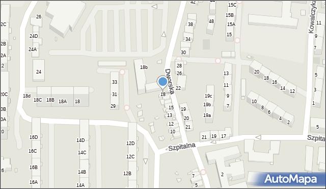 Zabrze, Dworska, 18, mapa Zabrza