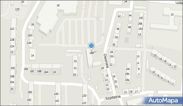 Zabrze, Dworska, 18b, mapa Zabrza