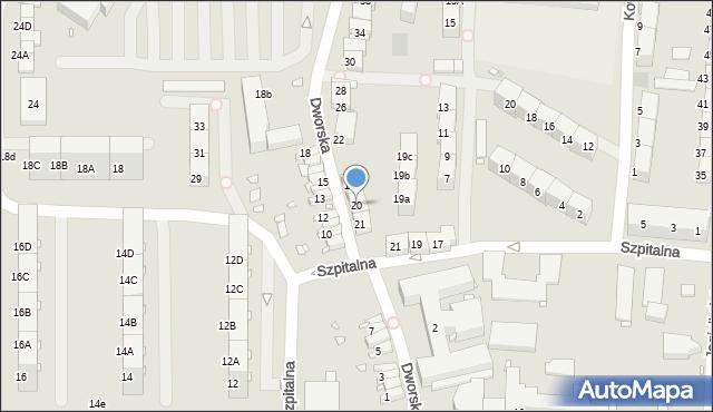 Zabrze, Dworska, 20, mapa Zabrza