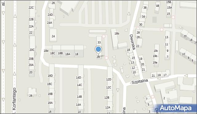 Zabrze, Dworska, 29, mapa Zabrza