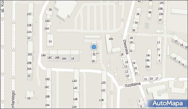 Zabrze, Dworska, 31, mapa Zabrza