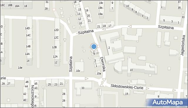 Zabrze, Dworska, 5, mapa Zabrza