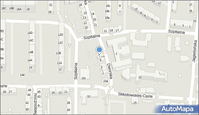 Zabrze, Dworska, 6, mapa Zabrza
