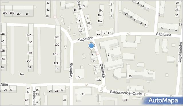 Zabrze, Dworska, 8, mapa Zabrza