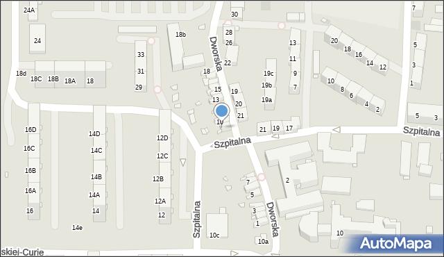 Zabrze, Dworska, 9, mapa Zabrza
