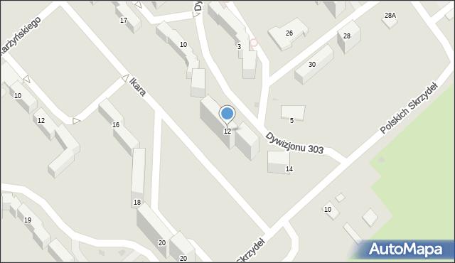 Grudziądz, Dywizjonu 303, 12, mapa Grudziądza
