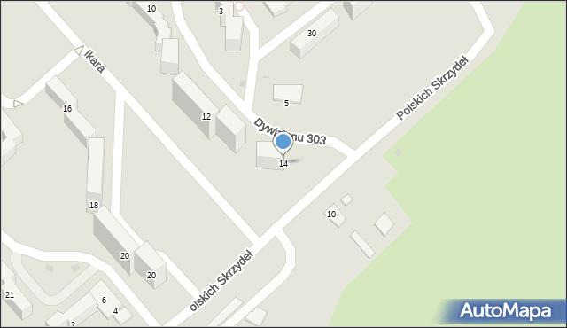 Grudziądz, Dywizjonu 303, 14, mapa Grudziądza