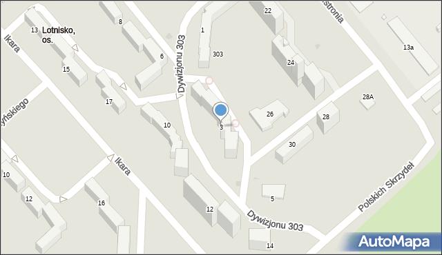 Grudziądz, Dywizjonu 303, 3, mapa Grudziądza