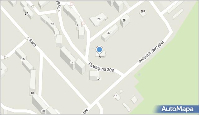 Grudziądz, Dywizjonu 303, 5, mapa Grudziądza