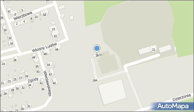 Bytom, Dzierżonia Jana, 19, mapa Bytomia