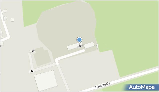 Bytom, Dzierżonia Jana, 21, mapa Bytomia