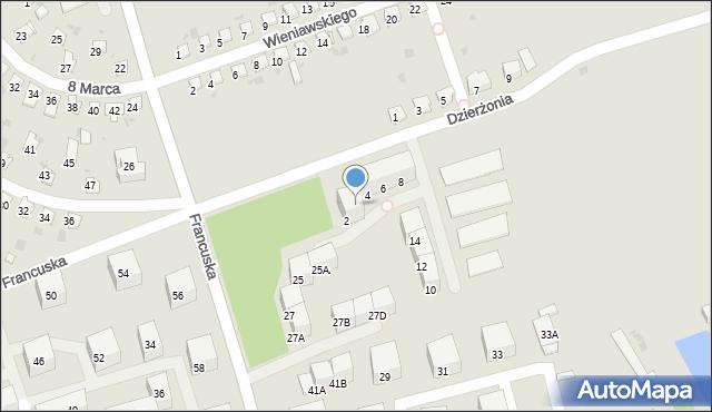Bytom, Dzierżonia Jana, 2a, mapa Bytomia