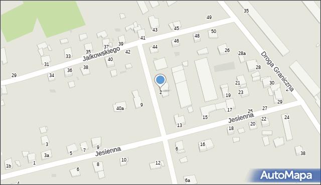 Grudziądz, Działkowa, 2, mapa Grudziądza
