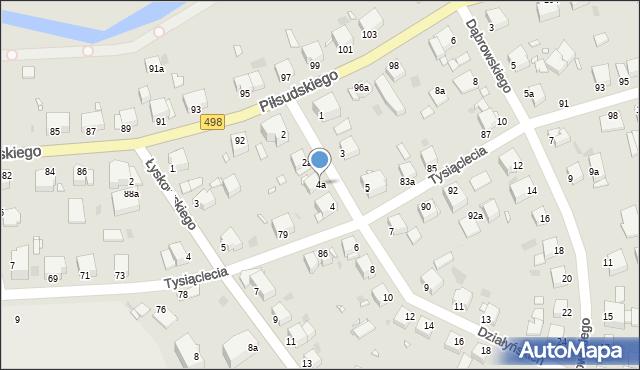 Grudziądz, Działyńskich, 4a, mapa Grudziądza