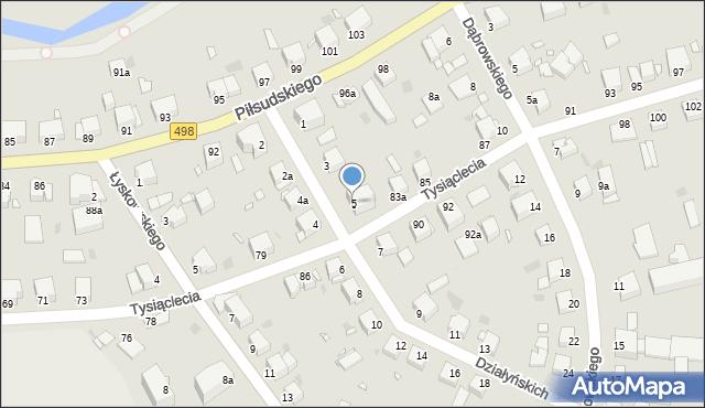 Grudziądz, Działyńskich, 5, mapa Grudziądza