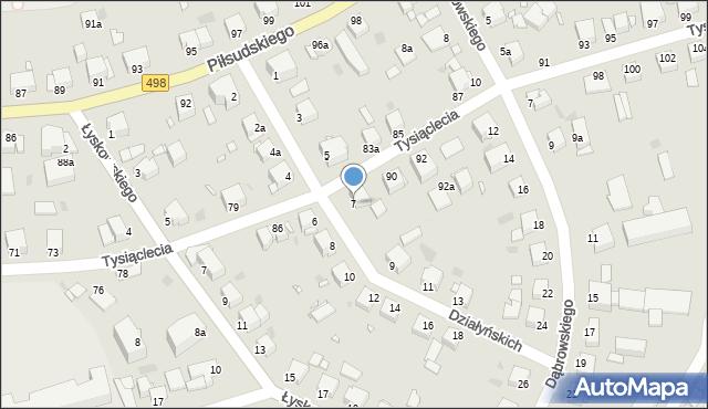 Grudziądz, Działyńskich, 7, mapa Grudziądza