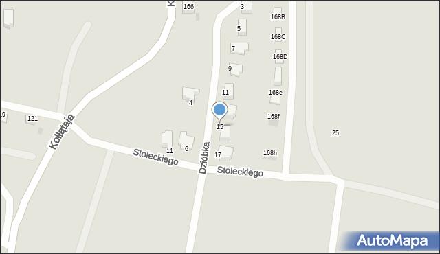 Jaworzno, Dzióbka Franciszka, 15, mapa Jaworzno
