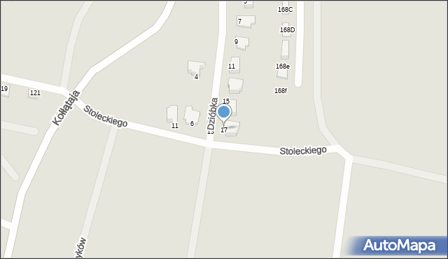 Jaworzno, Dzióbka Franciszka, 17, mapa Jaworzno