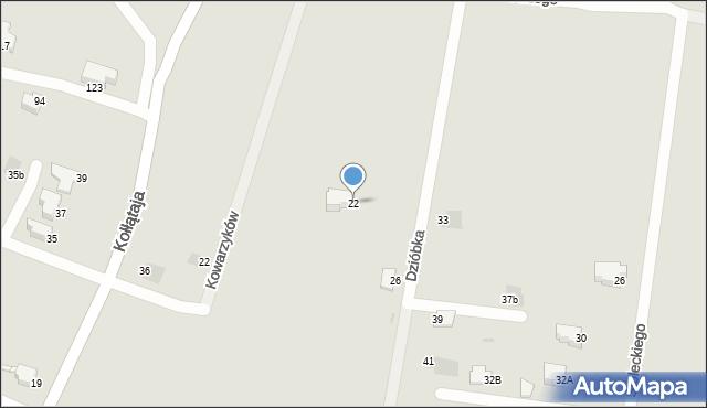 Jaworzno, Dzióbka Franciszka, 22, mapa Jaworzno
