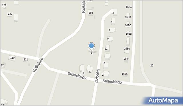Jaworzno, Dzióbka Franciszka, 4, mapa Jaworzno