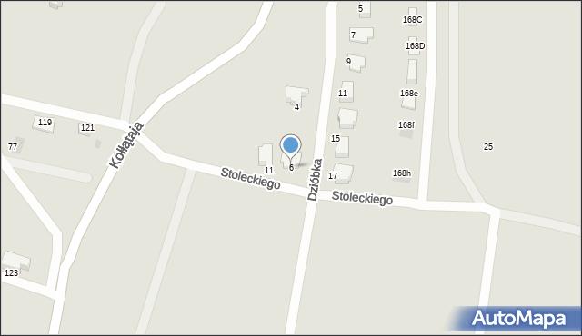 Jaworzno, Dzióbka Franciszka, 6, mapa Jaworzno