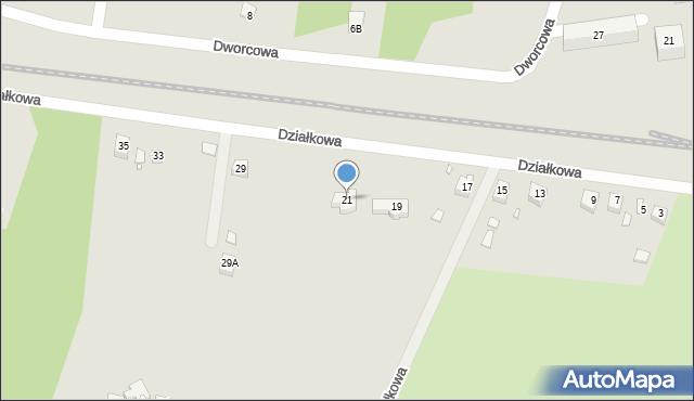 Poręba, Działkowa, 21, mapa Poręba